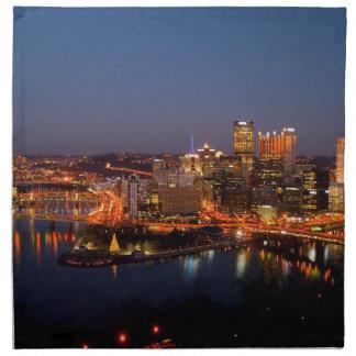 Pittsburgh Night Skyline Napkin