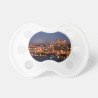 Pittsburgh Night Skyline Pacifier