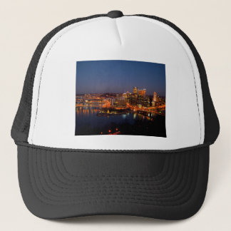 Pittsburgh Night Skyline Trucker Hat