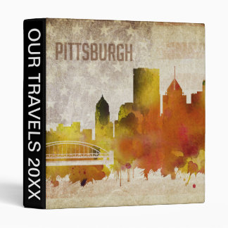 Pittsburgh, PA | Watercolor City Skyline Binder