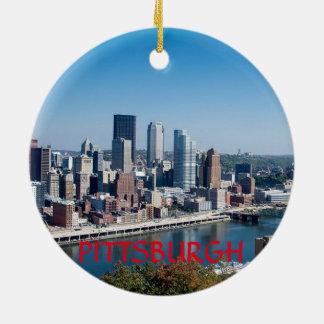 Pittsburgh Pennsylvania Circle Ornament