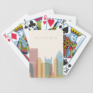 Pittsburgh, Pennsylvania | City Skyline Bicycle Playing Cards