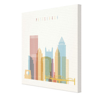 Pittsburgh, Pennsylvania | City Skyline Canvas Print