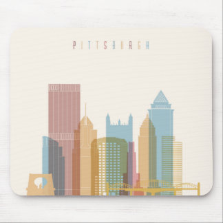 Pittsburgh, Pennsylvania | City Skyline Mouse Pad