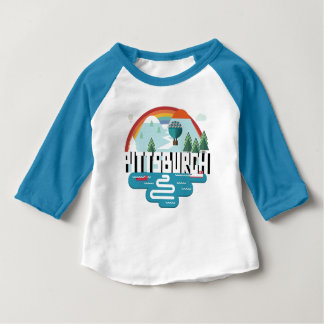 Pittsburgh, Pennsylvania | Cityscape Design Baby T-Shirt