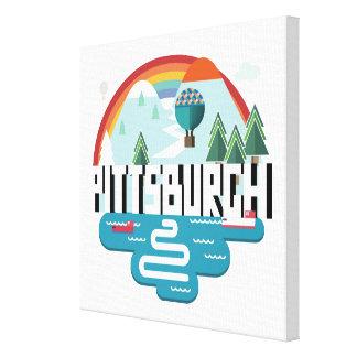 Pittsburgh, Pennsylvania | Cityscape Design Canvas Print