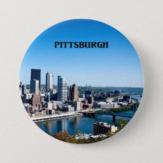 Pittsburgh, Pennsylvania skyline photograph 3 Inch Round Button