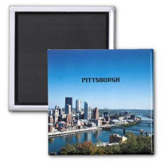 Pittsburgh, Pennsylvania skyline photograph Magnet