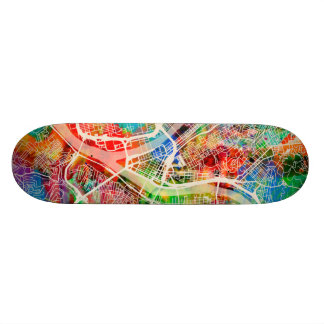 Pittsburgh Pennsylvania Street Map Skateboard Deck