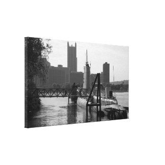 Pittsburgh Photo - Wall Canvas - With Submarine