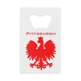 Pittsburgh Polish Eagle Bottle Opener Credit Card Bottle Opener