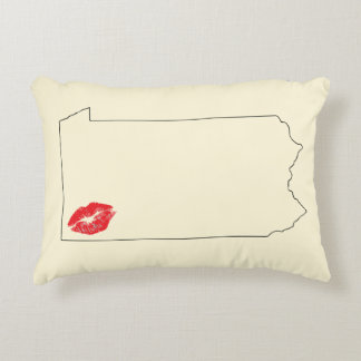 Pittsburgh Pucker Graphic Accent Pillow