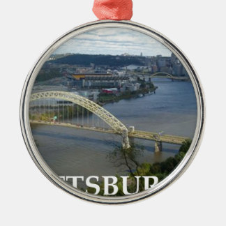 pittsburgh Silver-Colored round ornament
