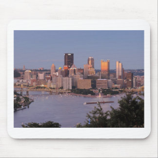 Pittsburgh Skyline at Dusk Mouse Pad