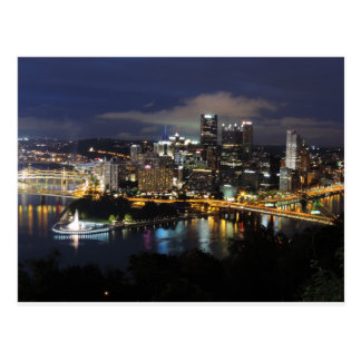 Pittsburgh Skyline at Dusk Postcard