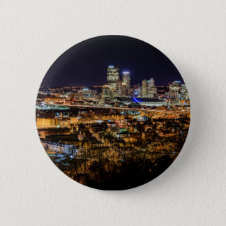 Pittsburgh Skyline at Night 2 Inch Round Button