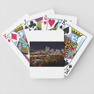 Pittsburgh Skyline at Night Bicycle Playing Cards