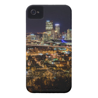 Pittsburgh Skyline at Night iPhone 4 Cases