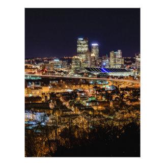 Pittsburgh Skyline at Night Letterhead