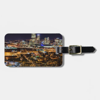 Pittsburgh Skyline at Night Luggage Tag