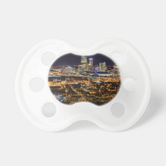 Pittsburgh Skyline at Night Pacifier
