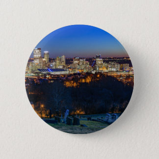 Pittsburgh Skyline at Sunset 2 Inch Round Button