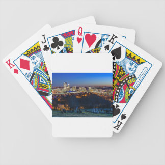 Pittsburgh Skyline at Sunset Bicycle Playing Cards