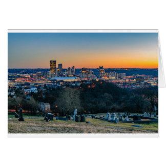 Pittsburgh Skyline at Sunset Card