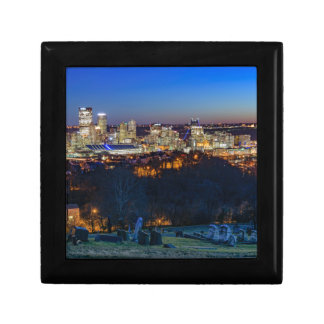 Pittsburgh Skyline at Sunset Gift Box