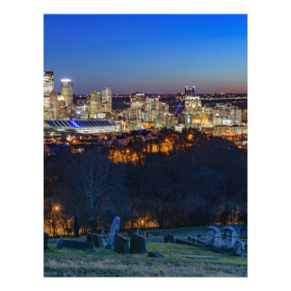 Pittsburgh Skyline at Sunset Letterhead