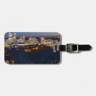 Pittsburgh Skyline at Sunset Luggage Tag