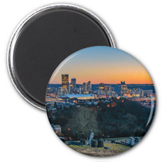 Pittsburgh Skyline at Sunset Magnet