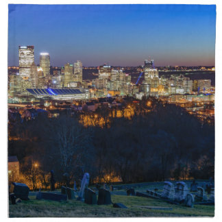 Pittsburgh Skyline at Sunset Napkins