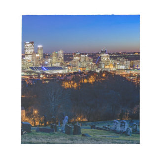 Pittsburgh Skyline at Sunset Notepad