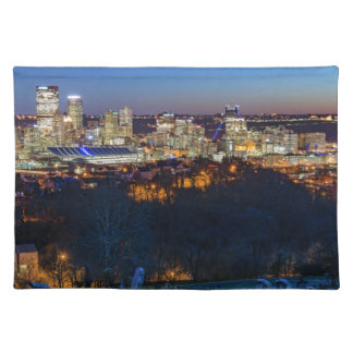 Pittsburgh Skyline at Sunset Place Mat