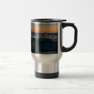 Pittsburgh Skyline at Sunset Travel Mug