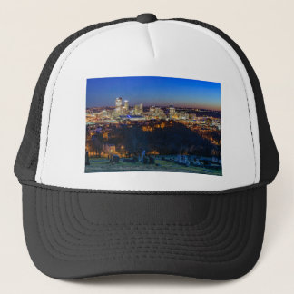 Pittsburgh Skyline at Sunset Trucker Hat