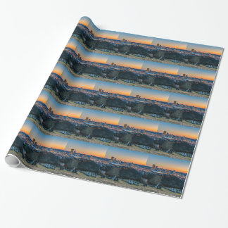 Pittsburgh Skyline at Sunset Wrapping Paper