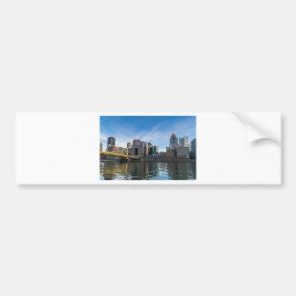 Pittsburgh Skyline Bumper Sticker