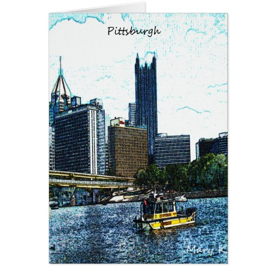 Pittsburgh  Skyline Card