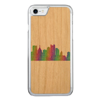 Pittsburgh skyline carved iPhone 8/7 case