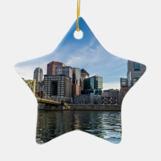 Pittsburgh Skyline Ceramic Star Ornament