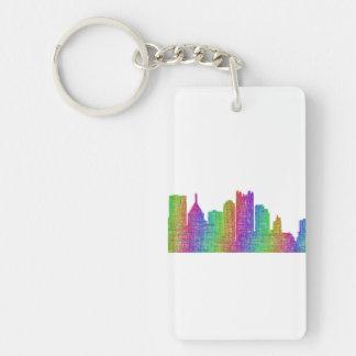 Pittsburgh skyline Double-Sided rectangular acrylic keychain