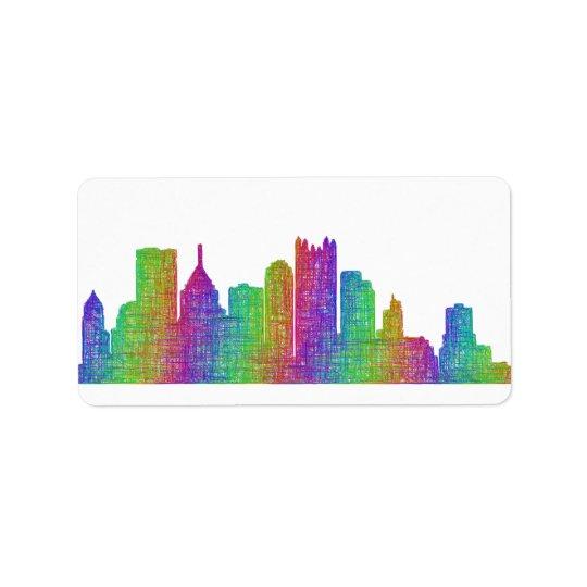 Pittsburgh skyline label
