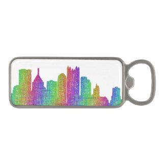 Pittsburgh skyline magnetic bottle opener