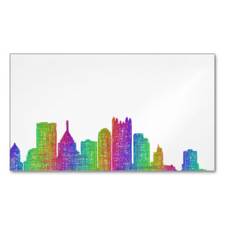 Pittsburgh skyline 	Magnetic business card