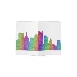 Pittsburgh skyline passport holder