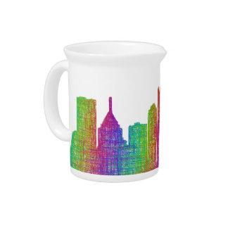 Pittsburgh skyline pitchers