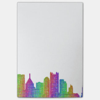 Pittsburgh skyline post-it notes
