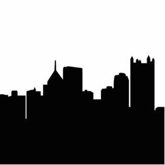 Pittsburgh Skyline Standing Photo Sculpture